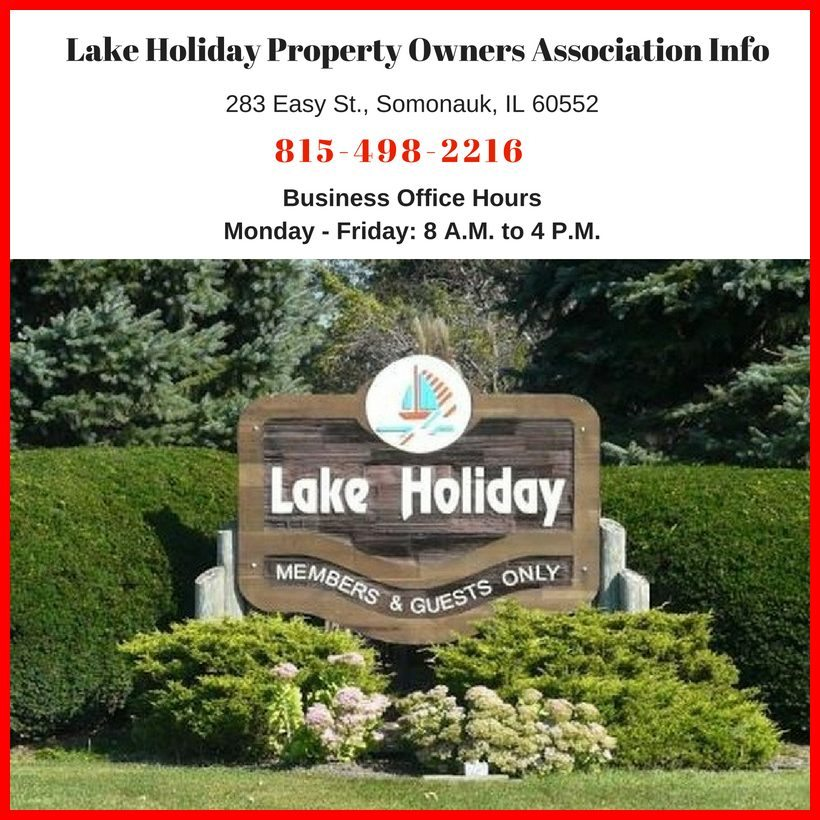Lake holiday Property Owners Associations
