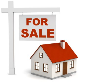 for sale sign with house