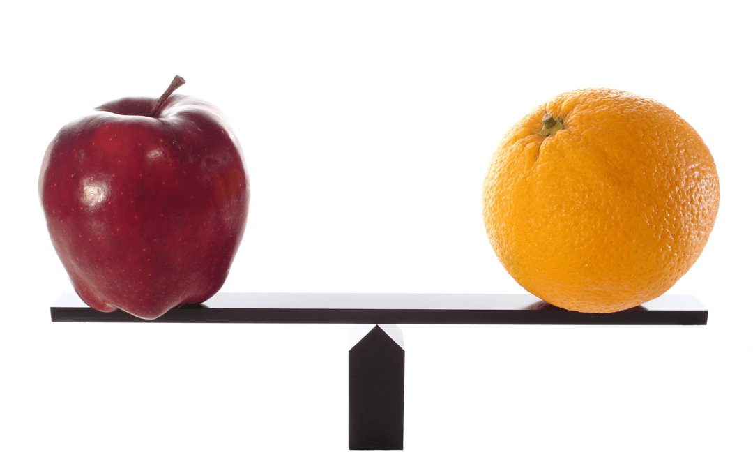 Apples to Oranges When Buying or Selling